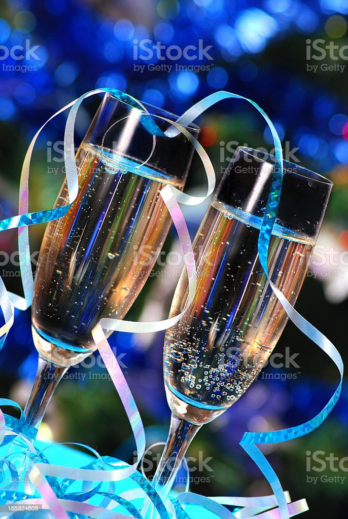 glasses of the champagne royalty-free stock photo