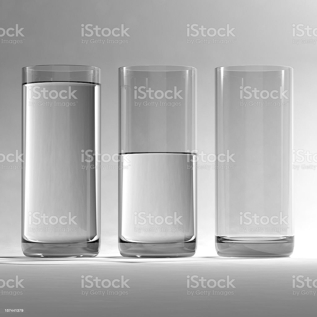 Glasses of Water stock photo