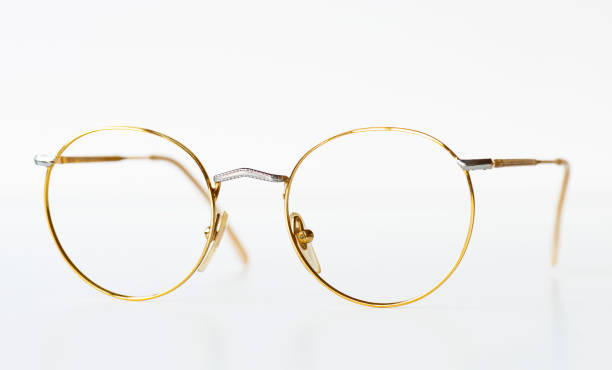 Brille auf weißem Hintergrund – Foto