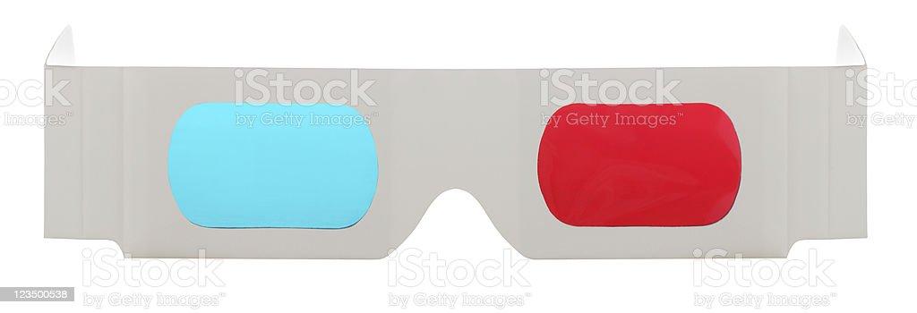 3 D-Brille auf weißem Hintergrund – Foto