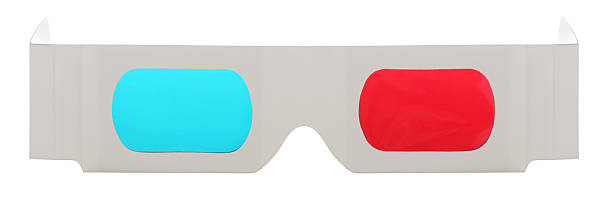 3-D Glasses on a White Background stock photo