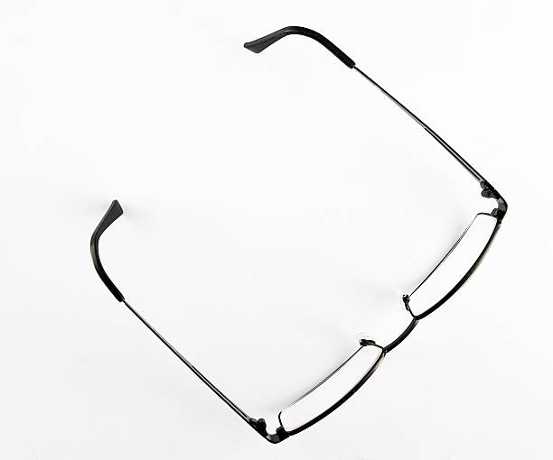 Glasses on a white background stock photo