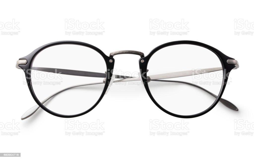 클리핑 경로와 흰색 배경에 안경 - 로열티 프리 0명 스톡 사진
