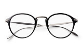 Glasses on a white background with clipping path