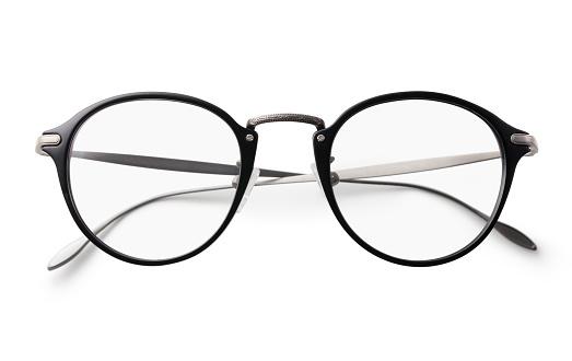클리핑 경로와 흰색 배경에 안경 0명에 대한 스톡 사진 및 기타 이미지