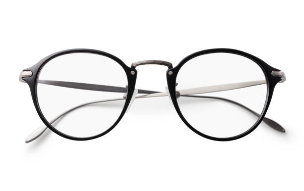 glasses on a white background with clipping path - eyewear stock pictures, royalty-free photos & images
