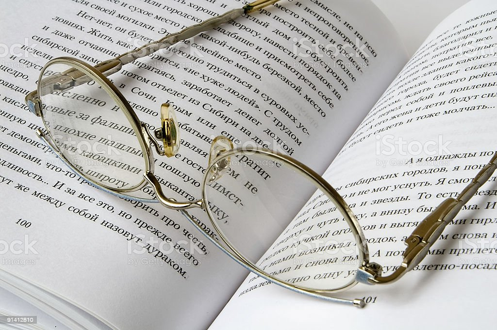 Glasses On Book royalty-free stock photo