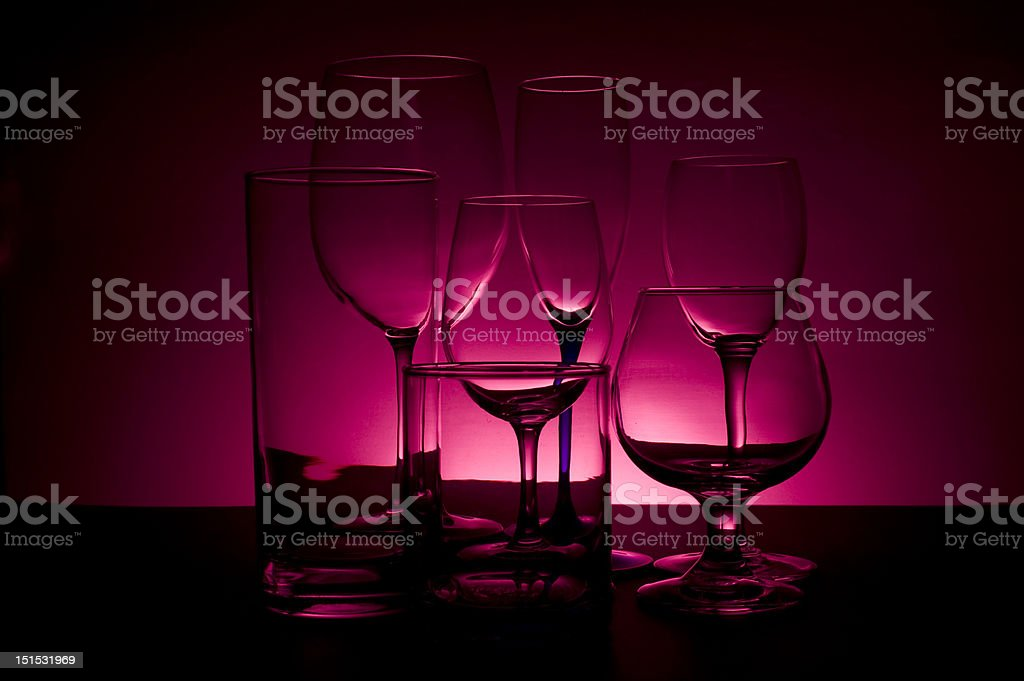 Glasses on colored background royalty-free stock photo