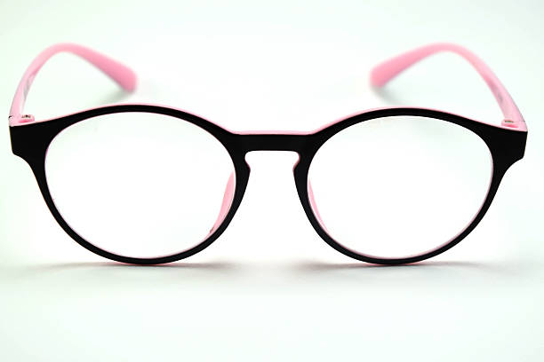 Glasses on white backgroud stock photo
