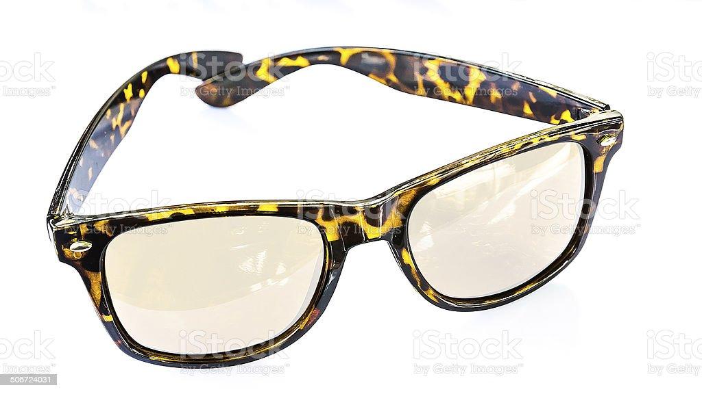 glasses on white background. royalty-free stock photo