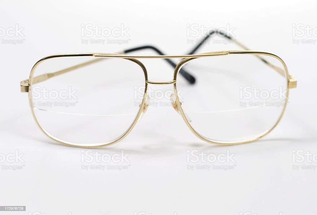 Glasses on White stock photo