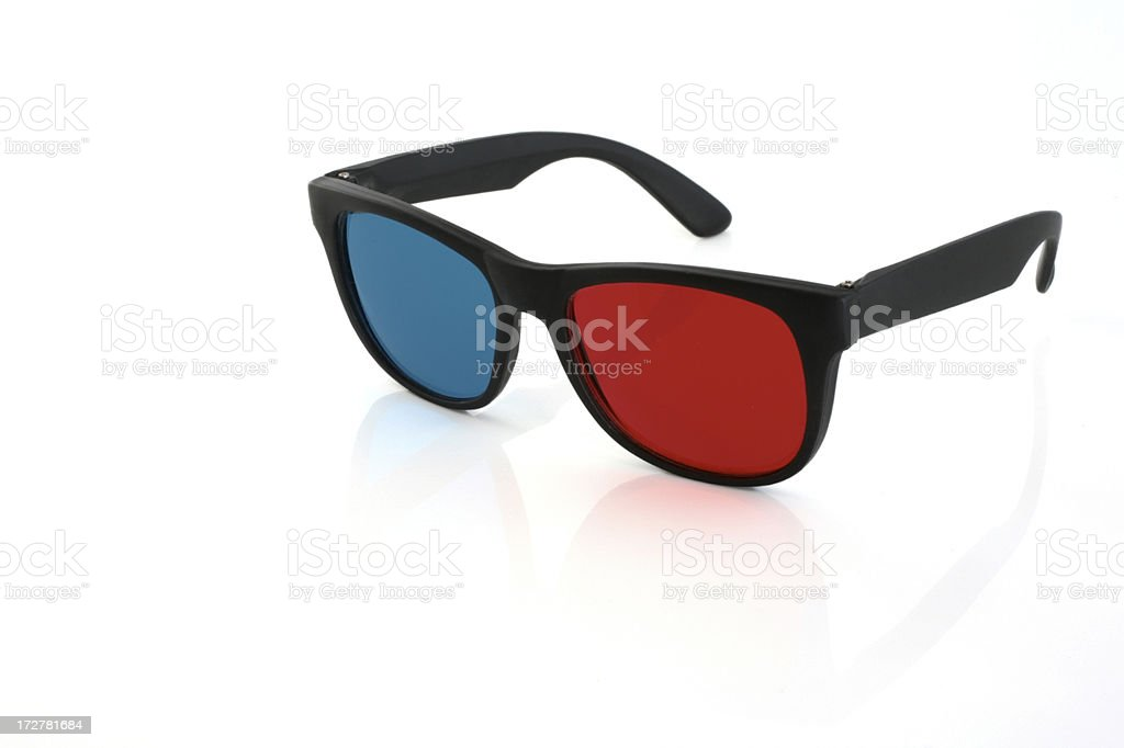 3-D glasses stock photo