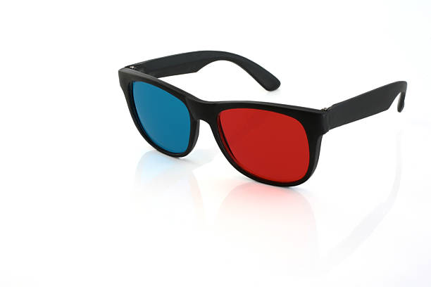 3-D glasses 3-D glasses isolated on white 3 d glasses stock pictures, royalty-free photos & images