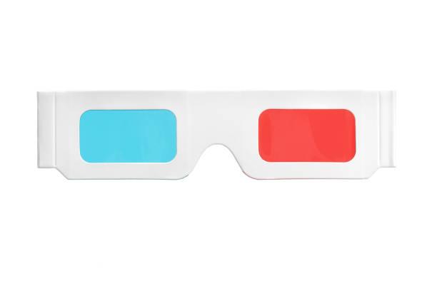 3-D glasses stock photo