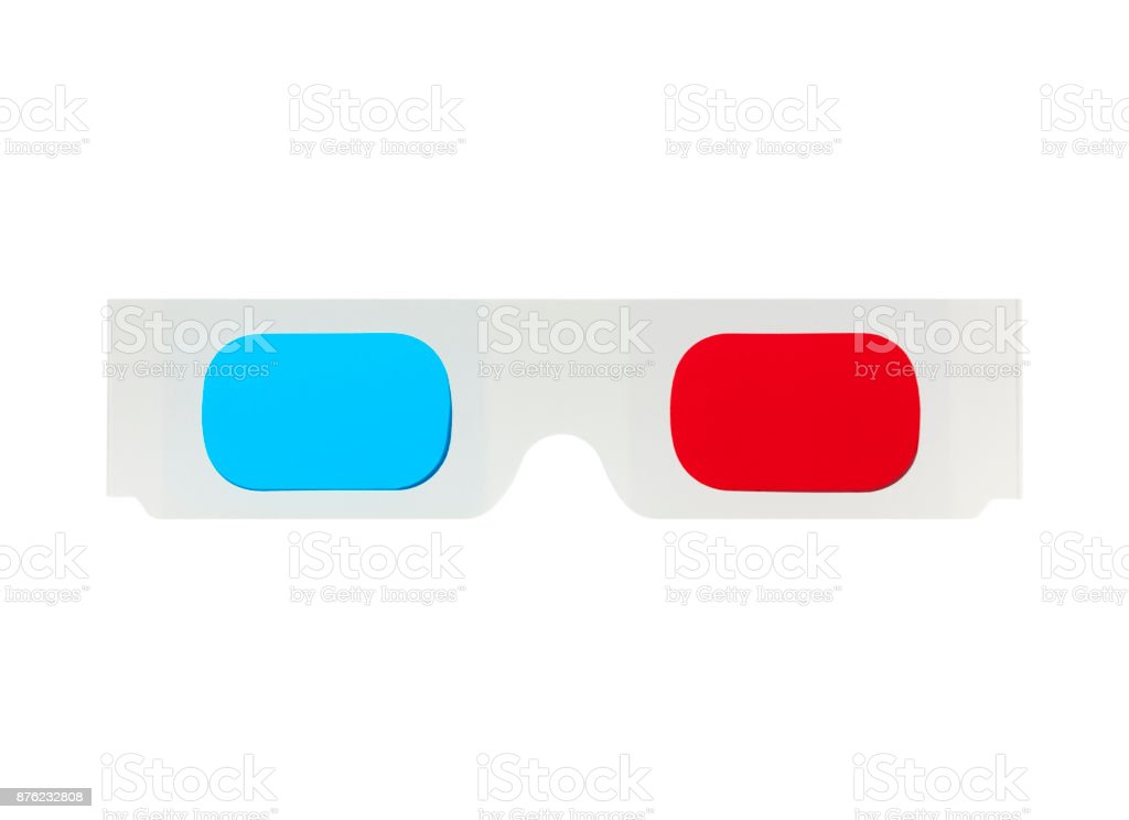 3-D Glasses (with path) stock photo
