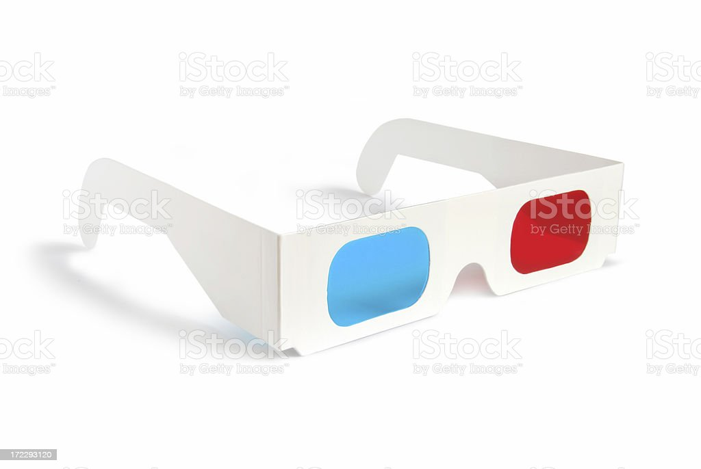3D glasses - side view stock photo