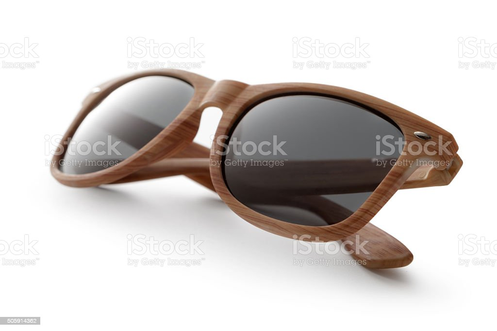 Glasses: Sunglasses Isolated on White Background stock photo