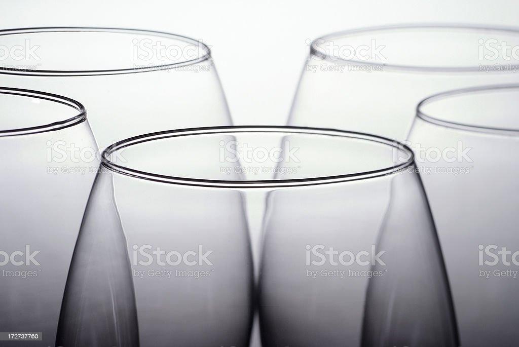 Glasses top macro stock photo