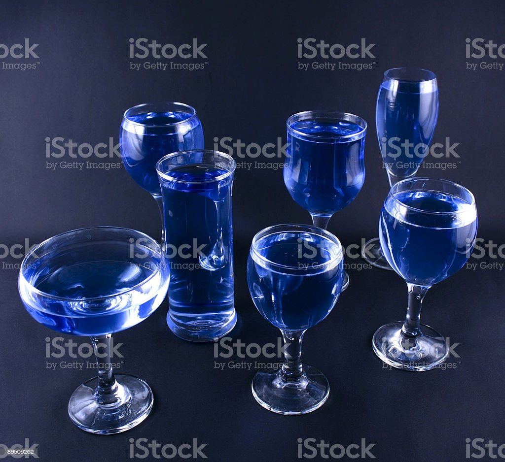 Glasses with a blue drink 免版稅 stock photo