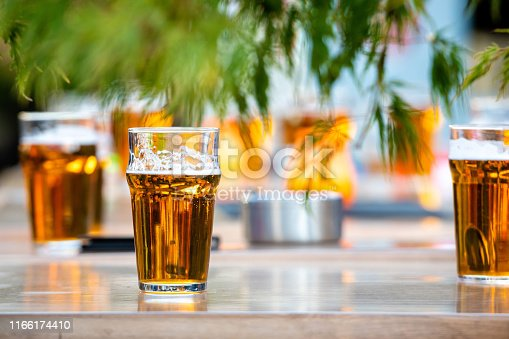 istock Glasses with beer on the coffee table. 1166174410
