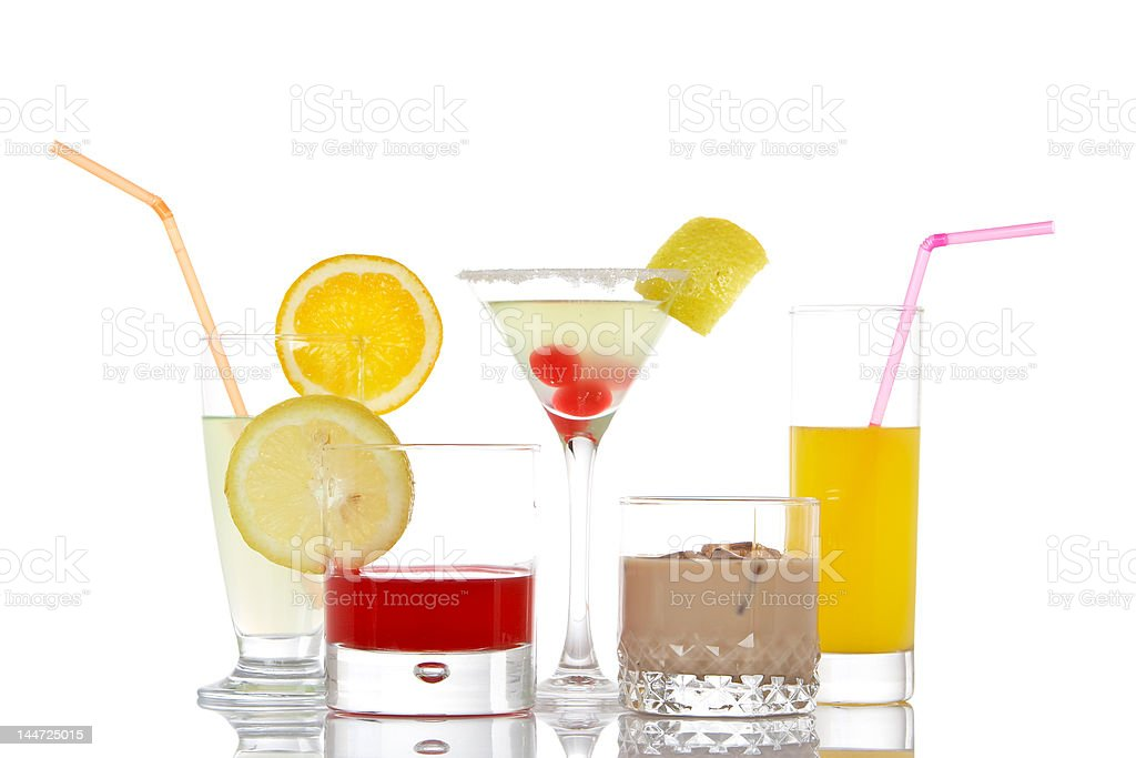 Glasses with beverages royalty-free stock photo