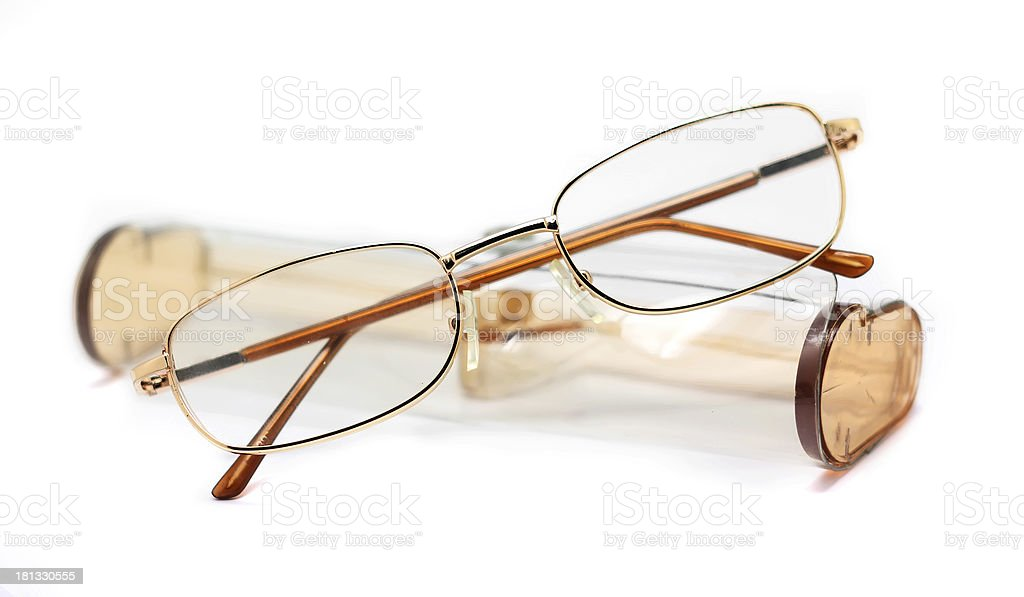glasses with case royalty-free stock photo