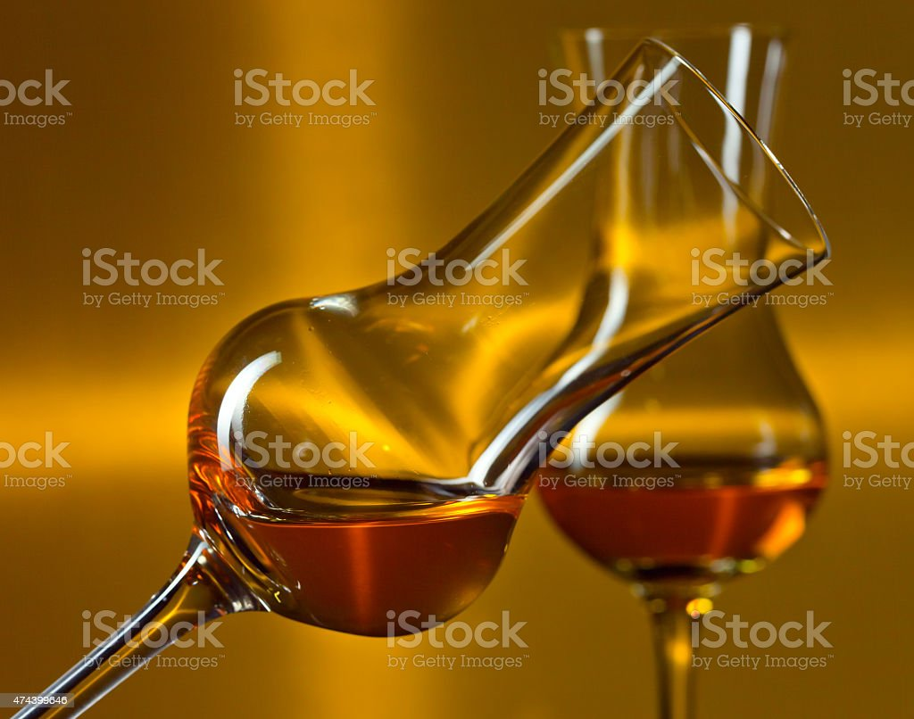 glasses with liqueur stock photo
