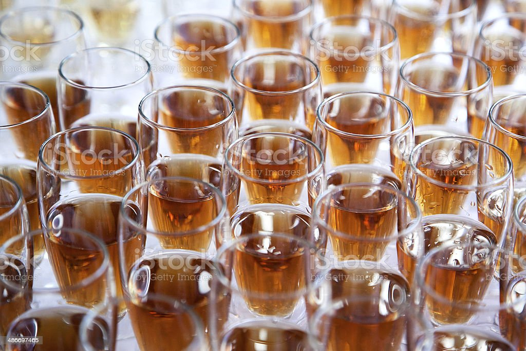 glasses with liquor royalty-free stock photo
