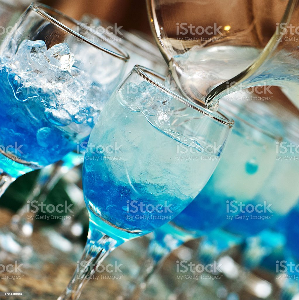 glasses with molecular cocktails royalty-free stock photo