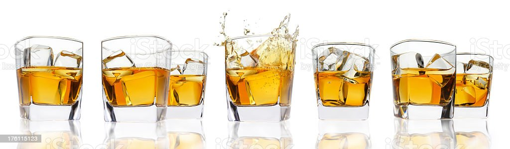 Glasses with whisky. stock photo