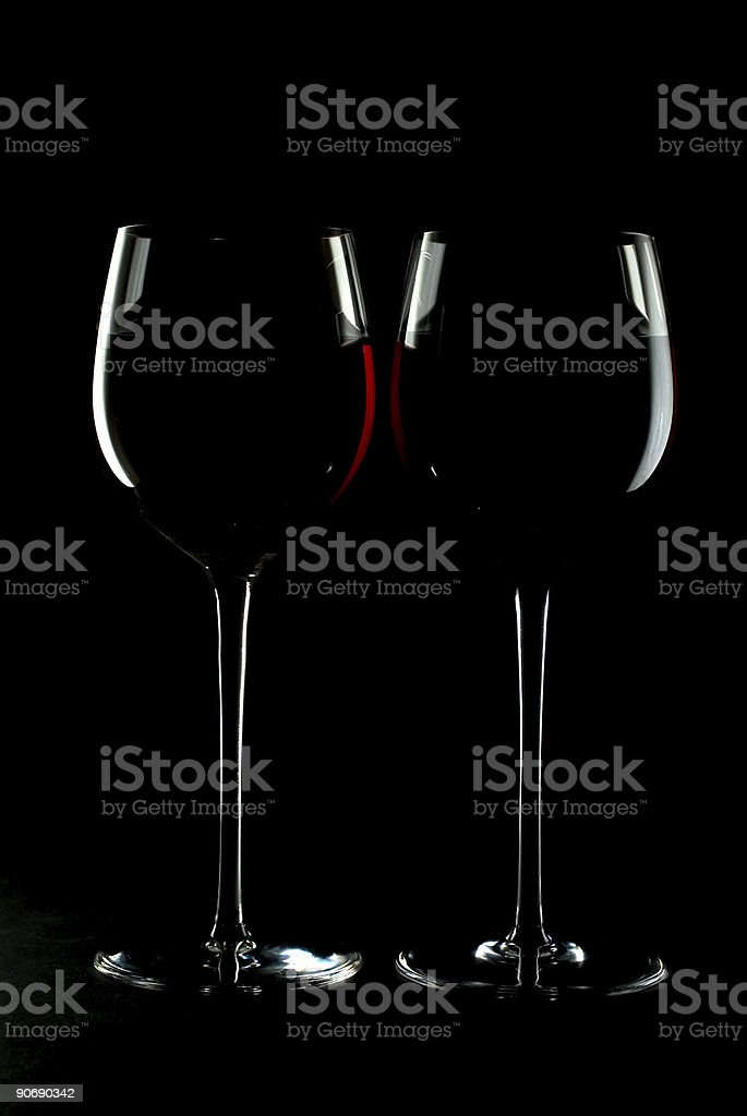 Glasses with Wine_05 royalty-free stock photo