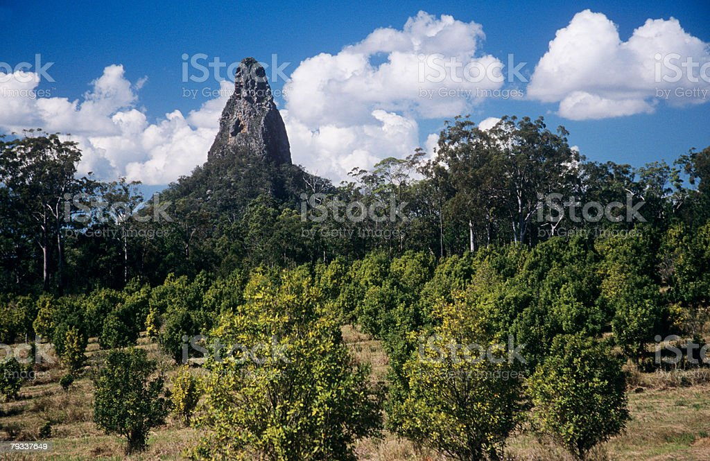 Glasshouse mountains royalty-free 스톡 사진