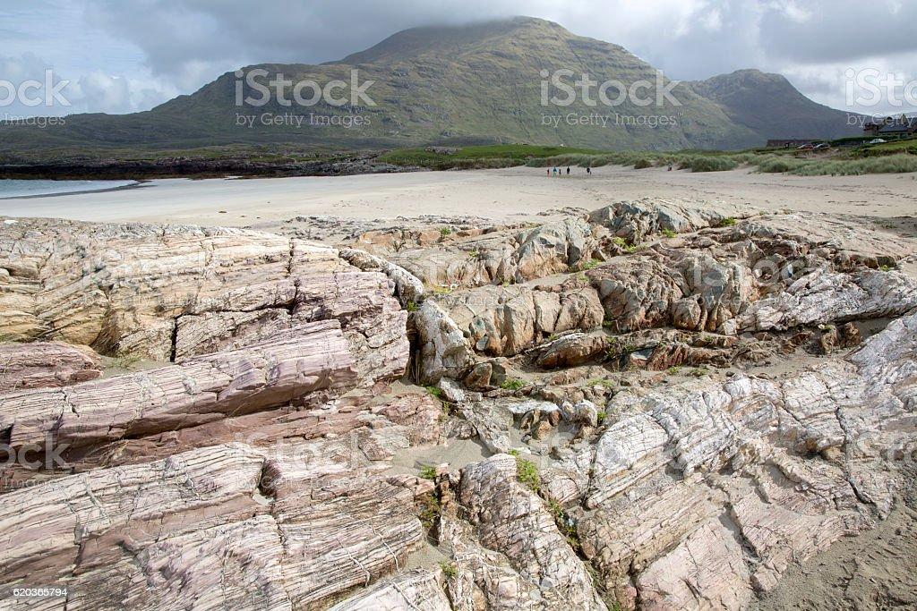 Glassillaun Beach, Connemara; Galway foto de stock royalty-free