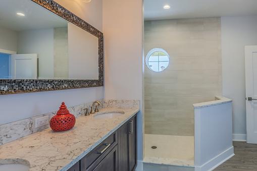 Bathroom with unique shower
