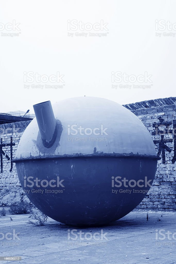glass-steel gas tank royalty-free stock photo