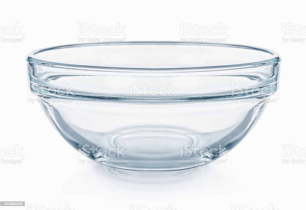 Glassware. Empty salad bowl on a white background stock photo