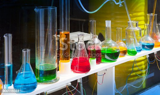 istock glassware with colorful liquids 900115044