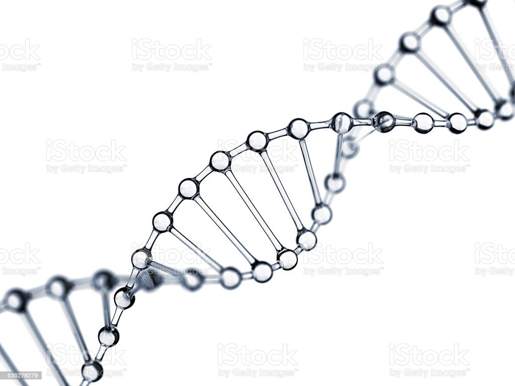 Glassy DNA stock photo