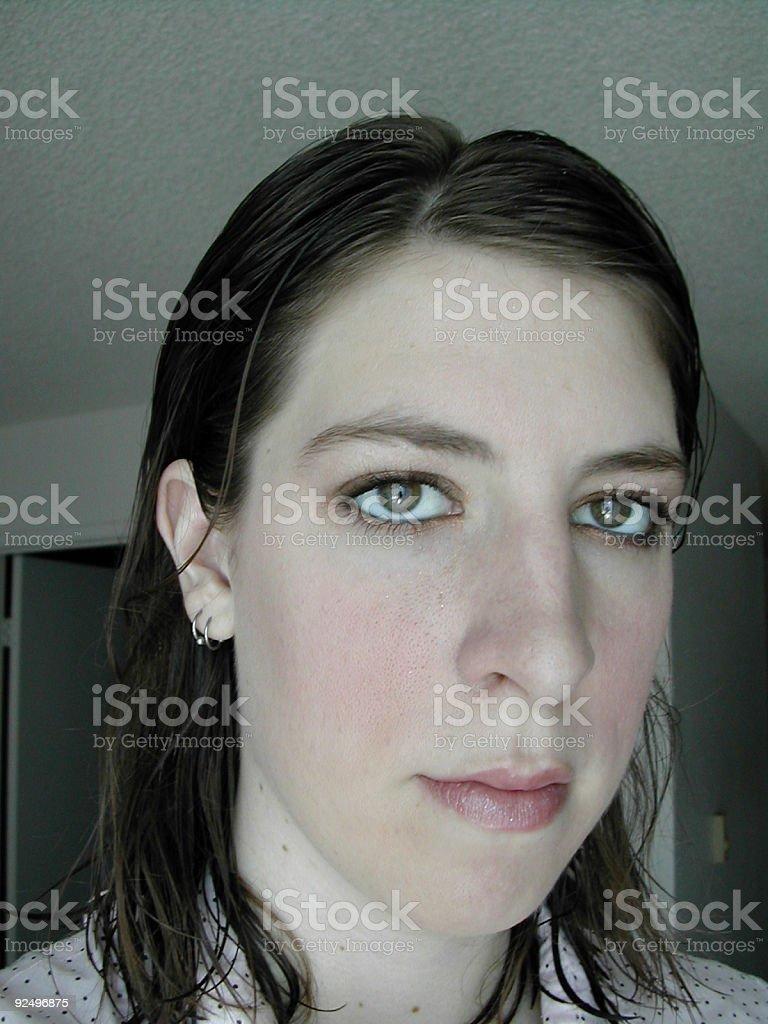 glassy eyes royalty-free stock photo
