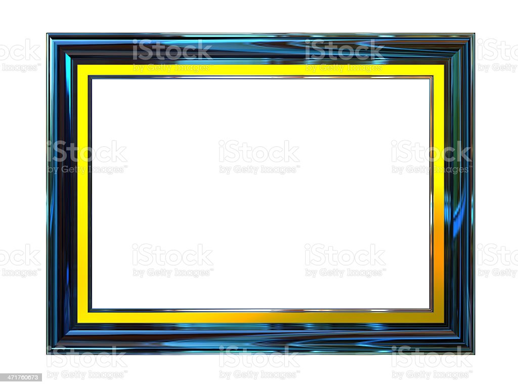 Glassy Picture Frame with gold fringe royalty-free stock photo