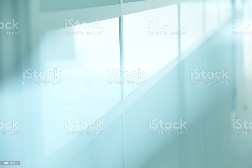 Glassy wall stock photo