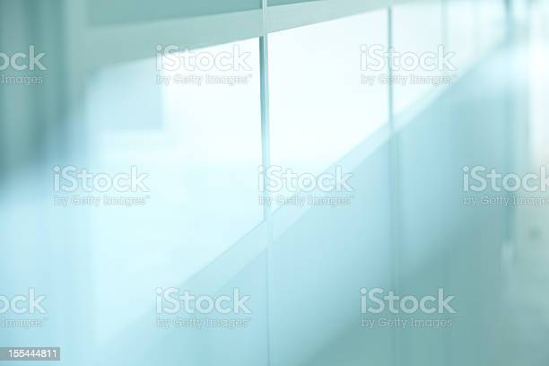Glassy office wall