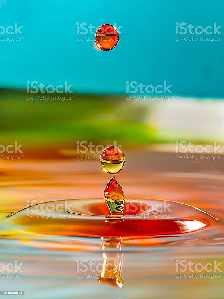 Glassy Water Drops stock photo