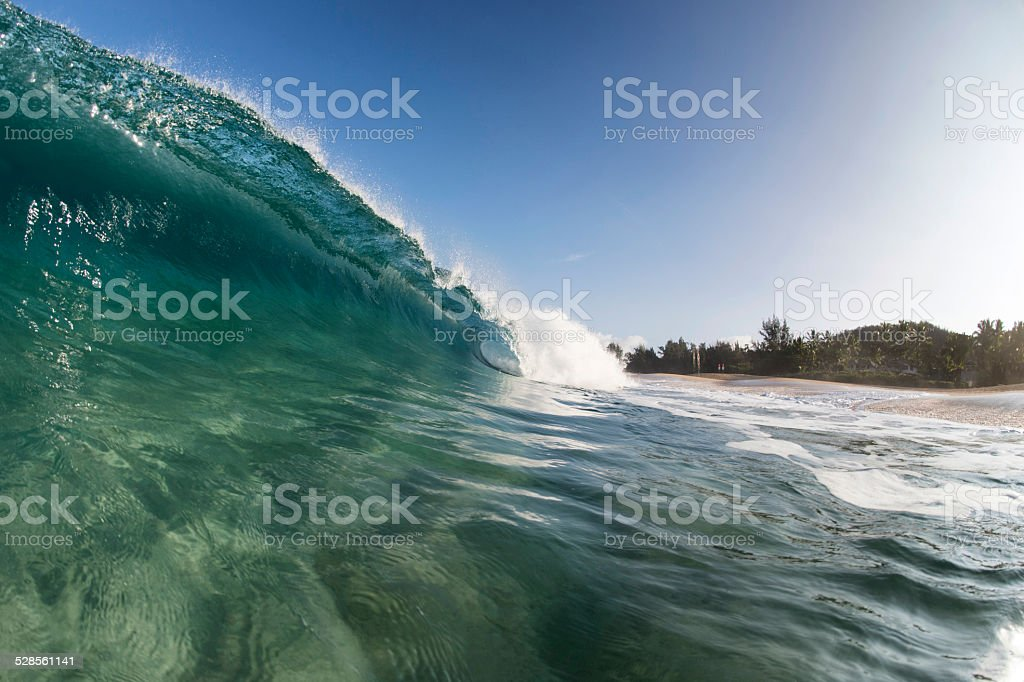 Glassy Wave stock photo