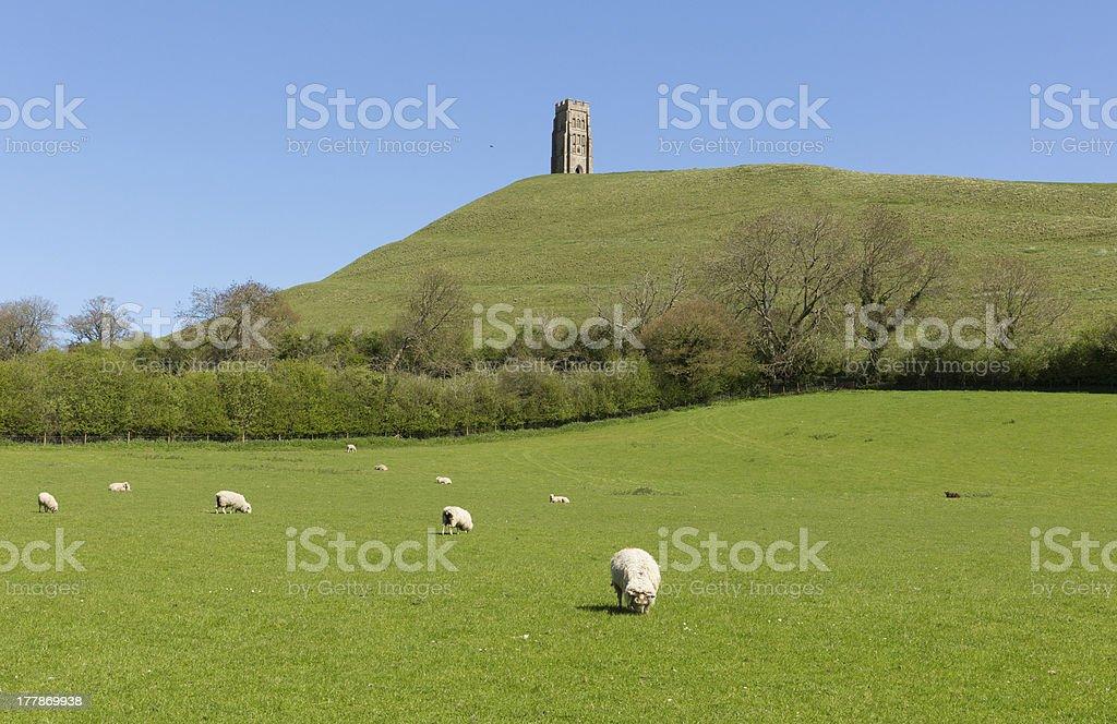 Glastonbury Tor Somerset England stock photo