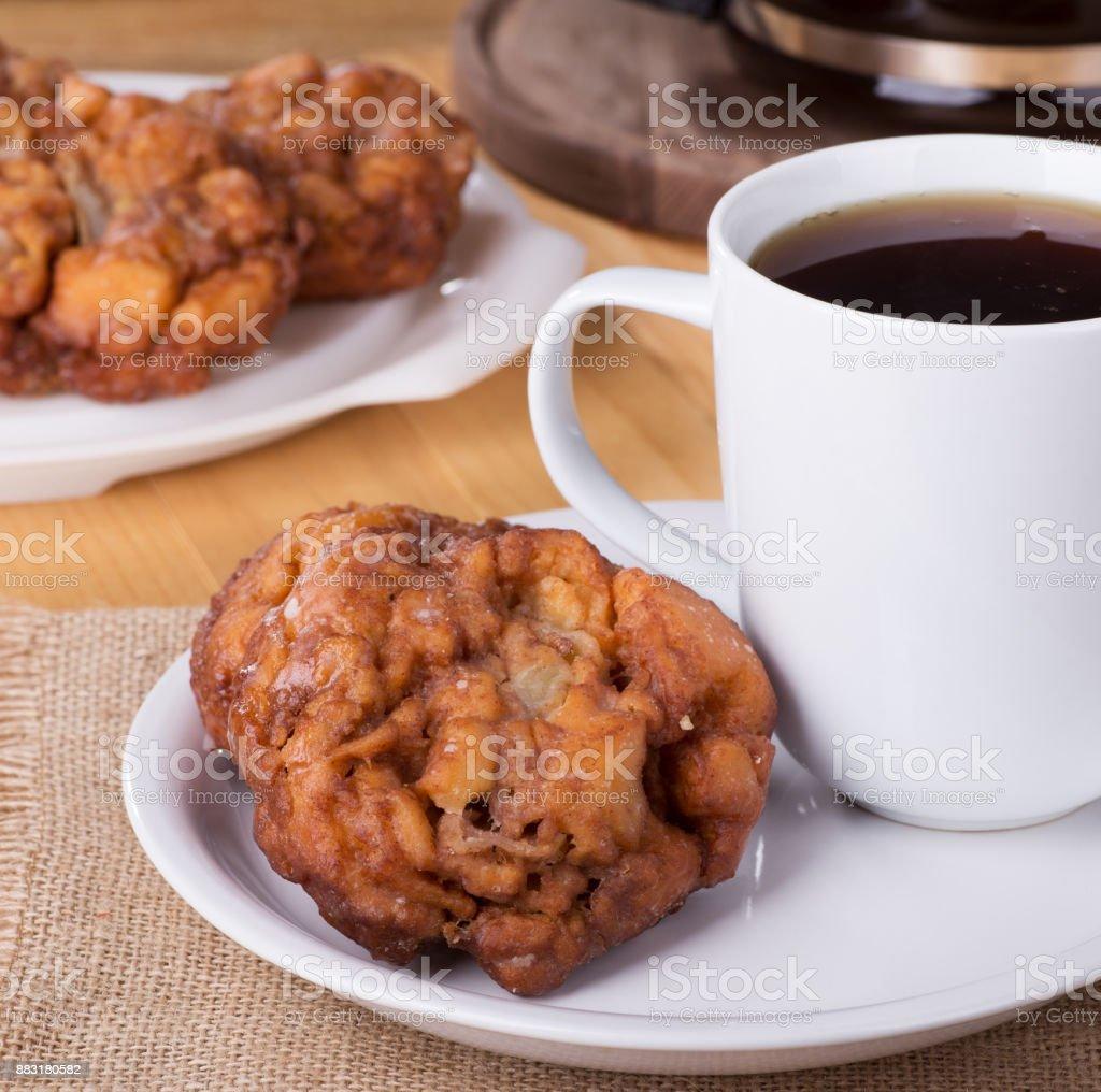 Glazed Apple Fritters stock photo