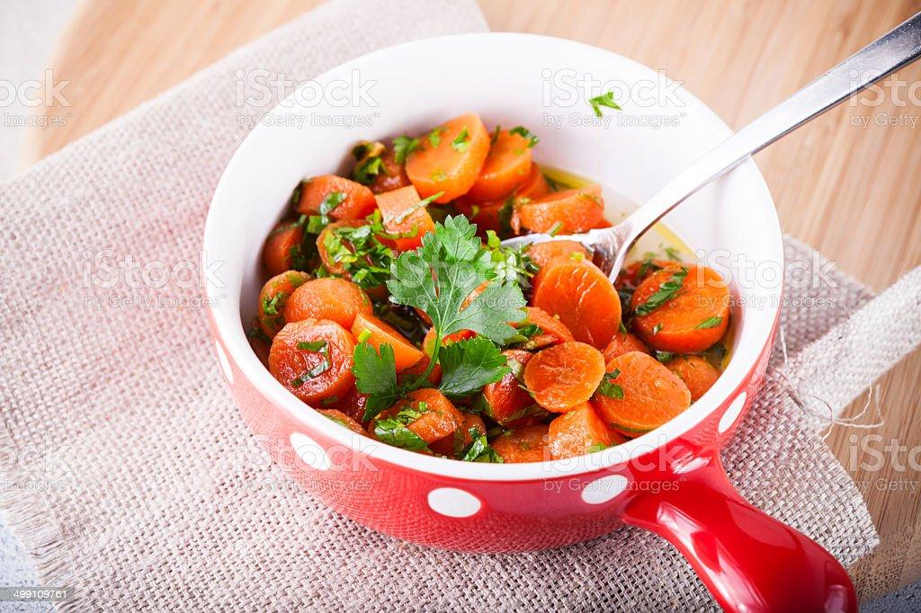 Glazed Carrots royalty-free stock photo