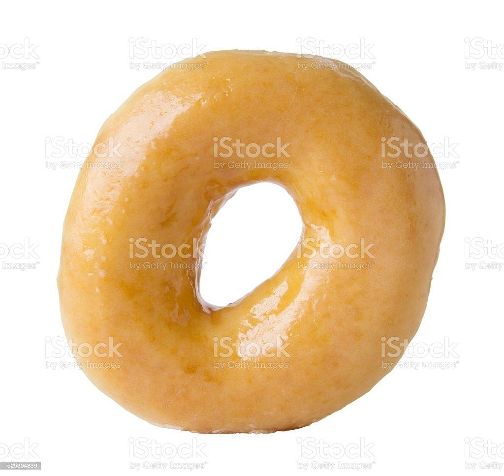 Glazed donut isolated on white stock photo