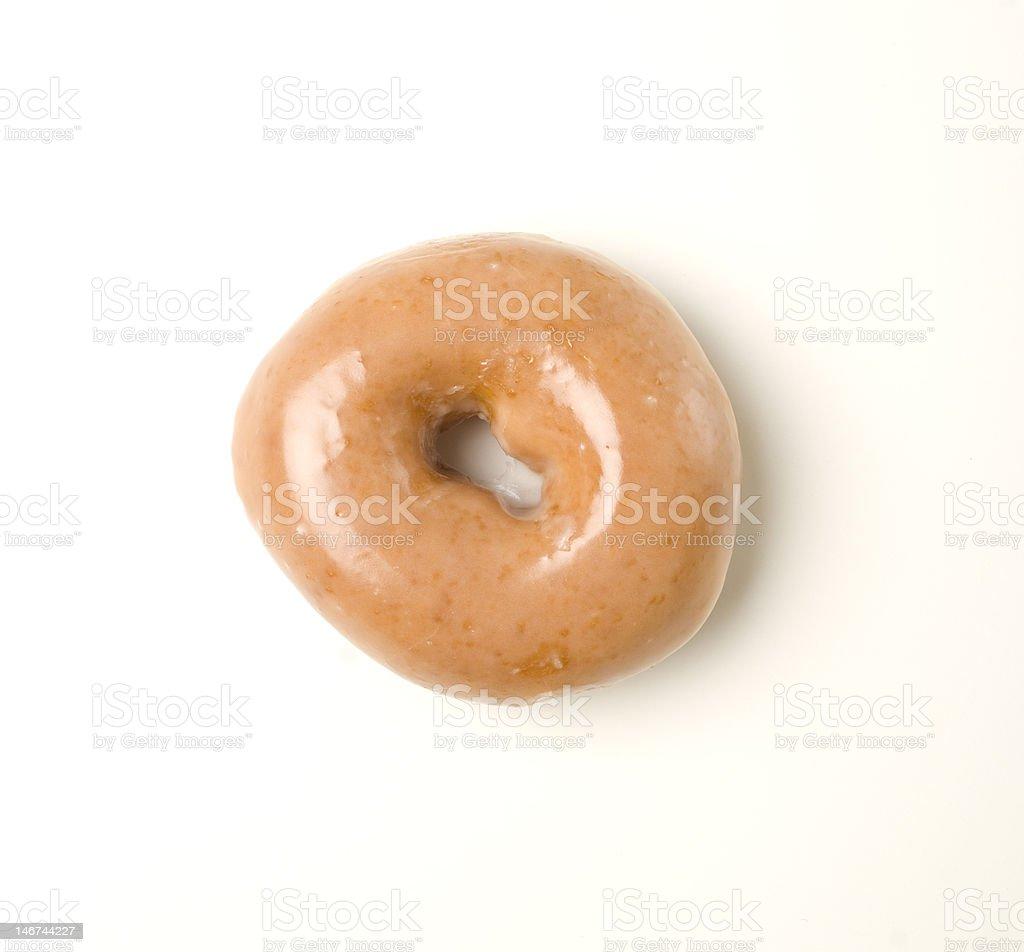 glazed donut on white background stock photo