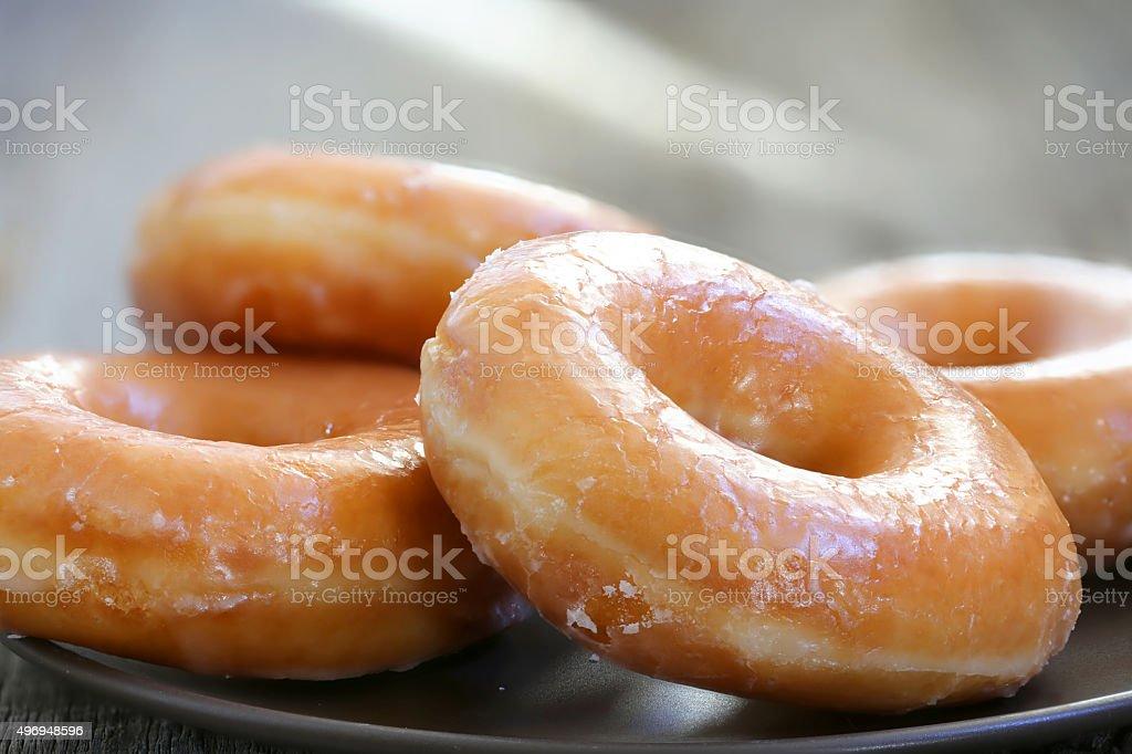 Glazed donuts stock photo
